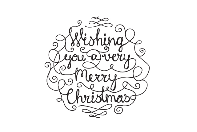 Hand Lettered Christmas Card Design