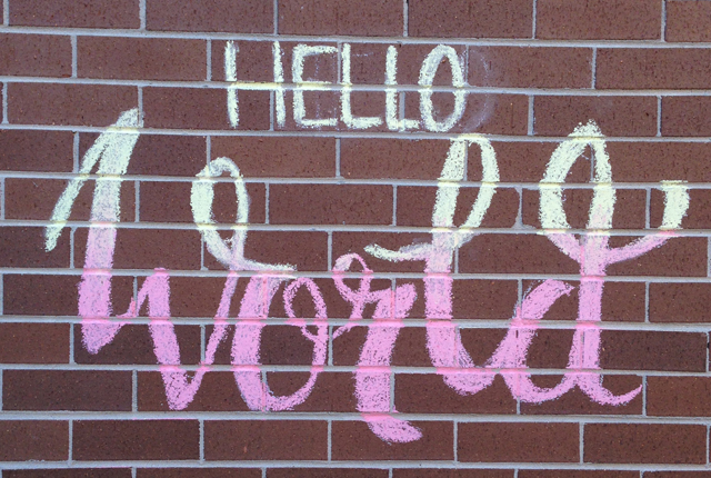 Hand Lettering Typography Design Chalk Wall