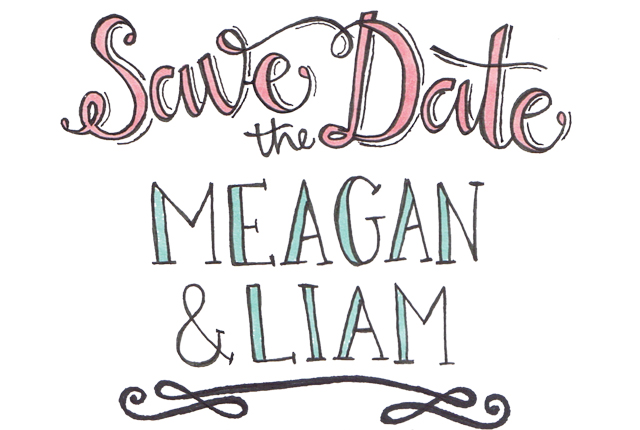 Wedding Typography Save The Date