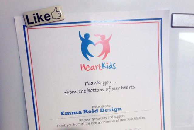 HeartKids Thank You Certificate