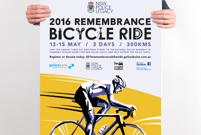Charity Cycling Event Poster Design